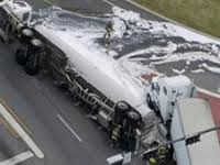 Oilzorb is used to recover oil from highway crashes